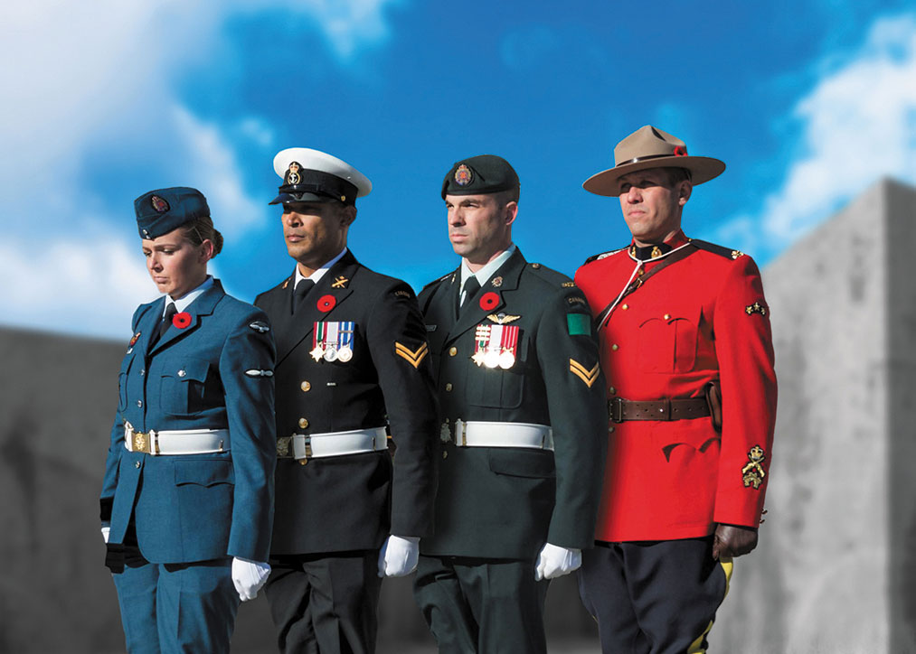 Photo of Veterans from the Canadian Armed Forces and the RCMP