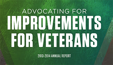 Annual Report 2013-2014 - Advocating for Improvements for Veterans