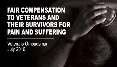 Fair Compensation to Veterans and their Survivors for Pain and Suffering